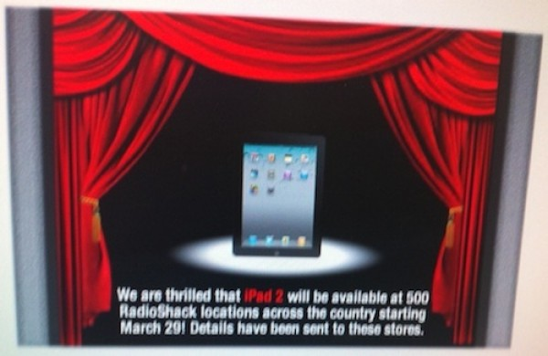 iPad 2 To Make It To RadioShack Shelves Tomorrow?