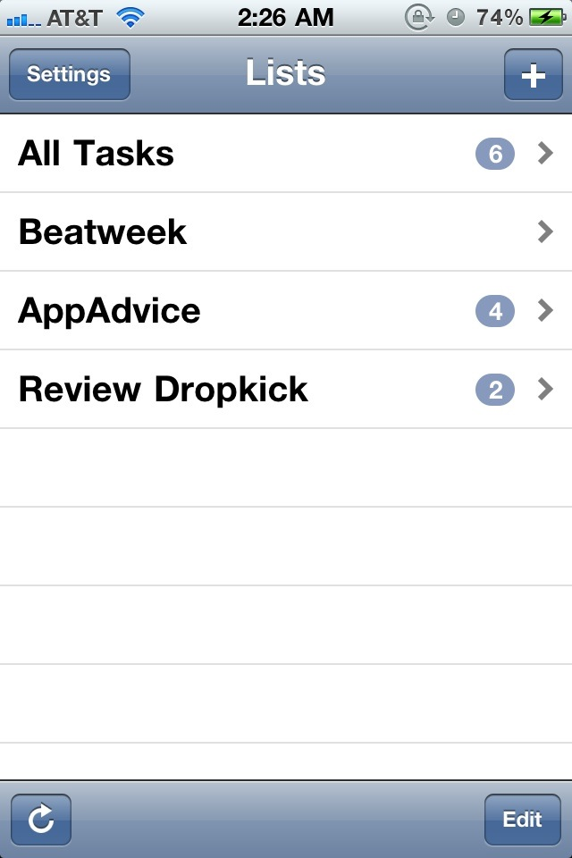 Dropkick Makes Task List Management Easy On iPhone and Mac
