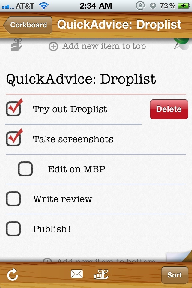Create Task Lists Easily & Manage Them Everywhere With Droplist For iPhone