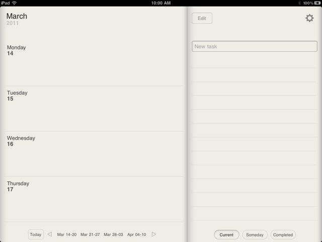 Take It A Week At A Time With Planner For iPad - Weekly Calendar And Tasks