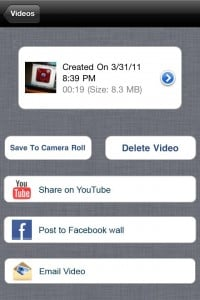 MultiCorder : Multioption Video Recorder for iPhone 4, 3GS, iTouch 4G by Mirage Labs screenshot