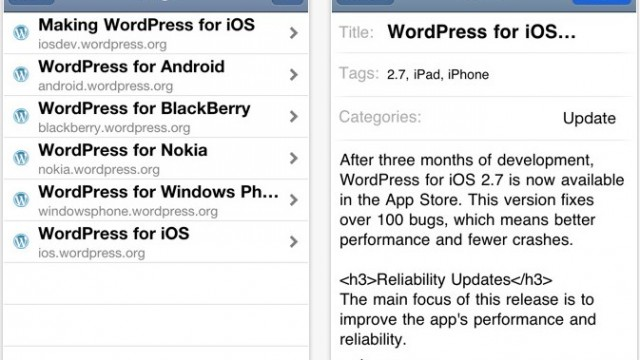 WordPress For iOS Updated, Fixes 100+ Bugs!