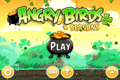 Go After The Green Pigs And Their Pot Of Gold In Angry Birds Seasons: The St. Patrick's Day Edition