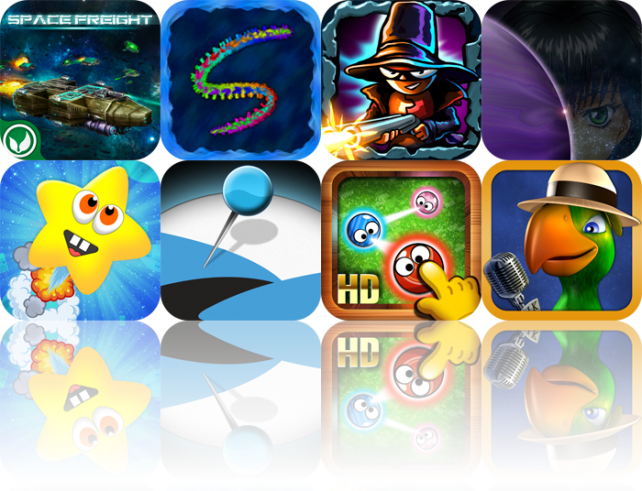 iOS Apps Gone Free: Space Freight, Scribblify, Van Pershing - The Showdown, And More