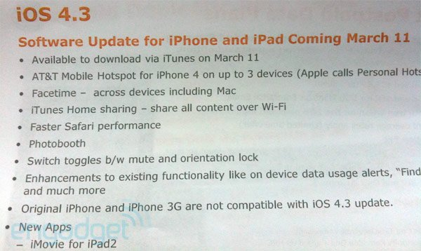 AT&T To Restrict iPhone 4 Hotspot Feature