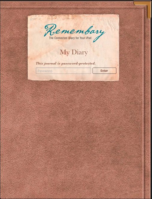 Remembary Connected Diary For The iPad Updated And We Have Promo Codes