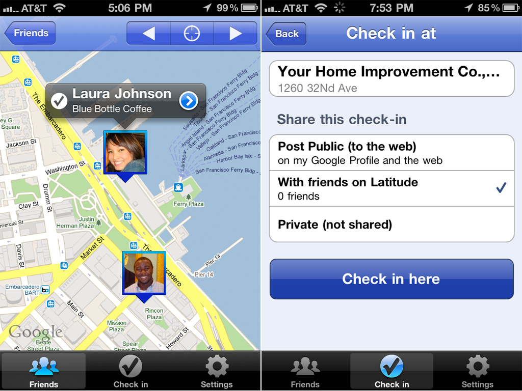 iPhone Owners Can Now Get Checked In With Google Latitude