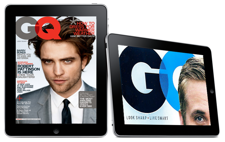 GQ & Vanity Fair Leave The iPhone & Raise iPad Issue Price - Game Over?