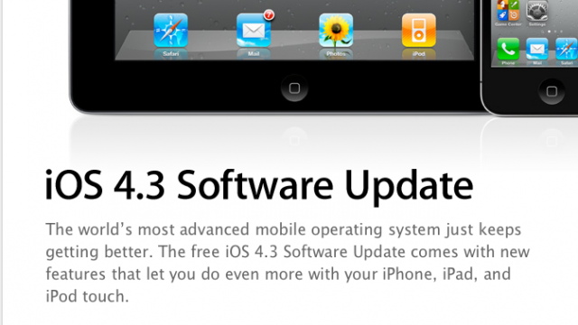 Who Needs An iPad 2? Latest iOS 4.3 Release Could Come As Early As Wednesday