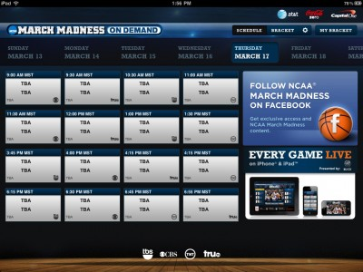 March Madness On Demand Allows You To Watch Every Game On Your iPhone Or iPad For Free