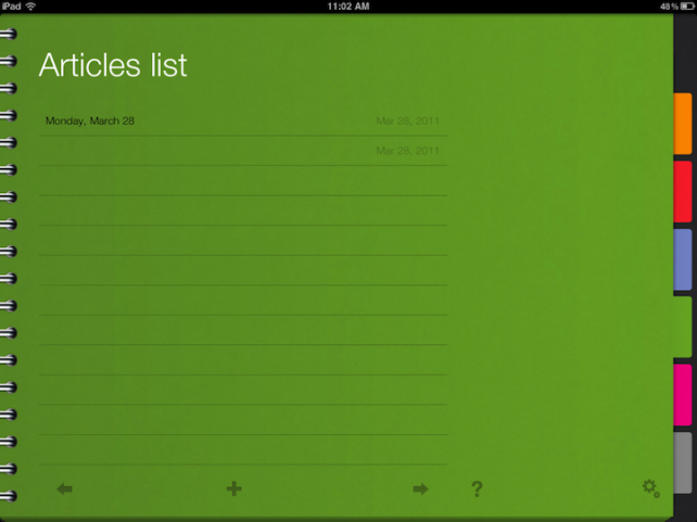 ActionNotes Is A No-Nonsense Way To Record Important Goals And Tasks On The iPad