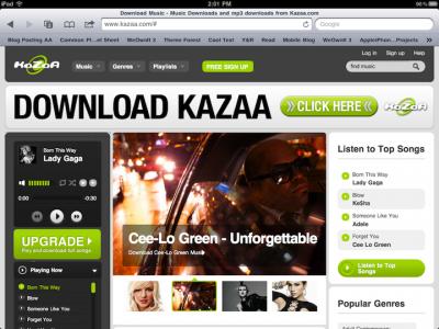 Kazaa Digital Music Service Won't Play Nice With Apple
