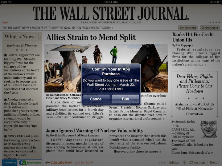 WSJ Begins Selling Single Issues, But They Don't Come Cheap