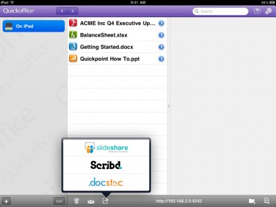 QuickOffice For iPad Gains Additional Sharing Options, AirPrint Support