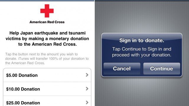 Apple Just Made It Easier To Donate To The Red Cross Japan Relief Fund From Your iPhone And iPad