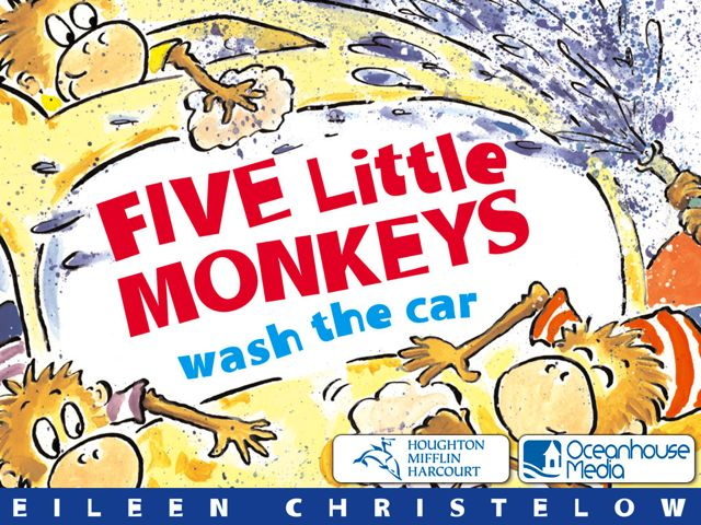 Things Get Awfully Sticky When Five Little Monkeys Wash The Car!