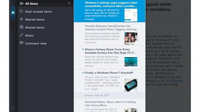 MobileRSS HD Updated: New Design, Now Looks A Lot Less Like Reeder