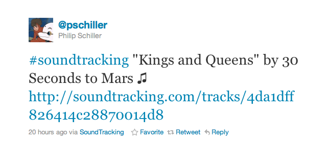 Phil Schiller Really Likes The SoundTracking App