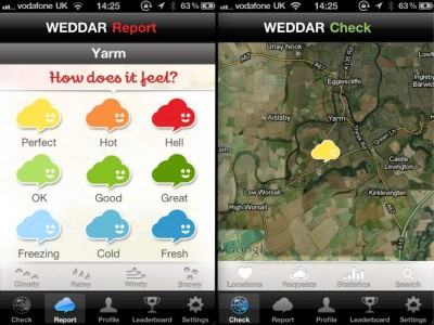 Preview Giveaway: Weddar - People Powered Weather Reporting, Launching On Monday