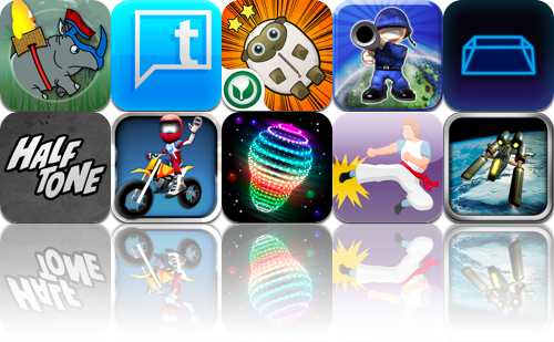 iOS Apps Gone Free: Halftone, Crazy Rhino, Cosmic Top, And More