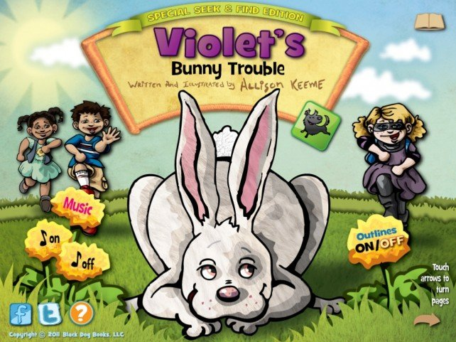 Violet Helps Kids Practice Their Egg Hunting Skills