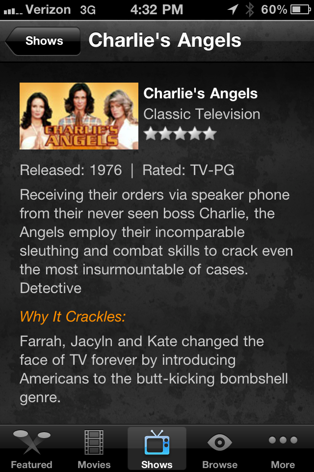 Crackle Streams Full-Length Movies And TV Shows For Free
