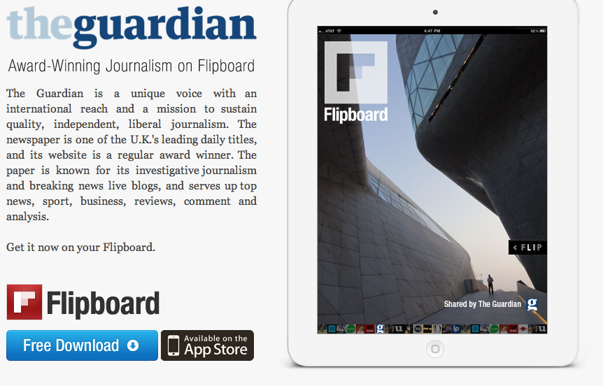 Flipboard App Now Includes News From The Guardian