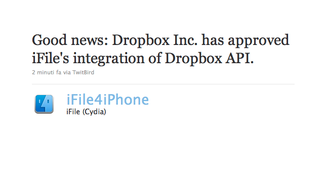 What Will Apple Do? Dropbox Allows Integration With iFile Jailbreak App