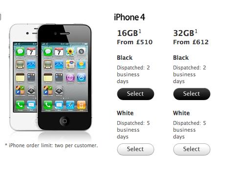 White iPhone UK