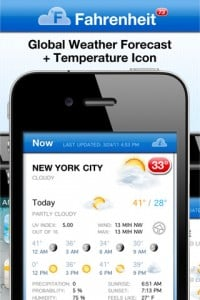 Fahrenheit - Weather and Temperature on your Home Screen by International Travel Weather Calculator screenshot