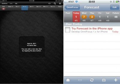 OmniFocus For iPhone To Gain The Currently iPad-Exclusive Forecast Feature