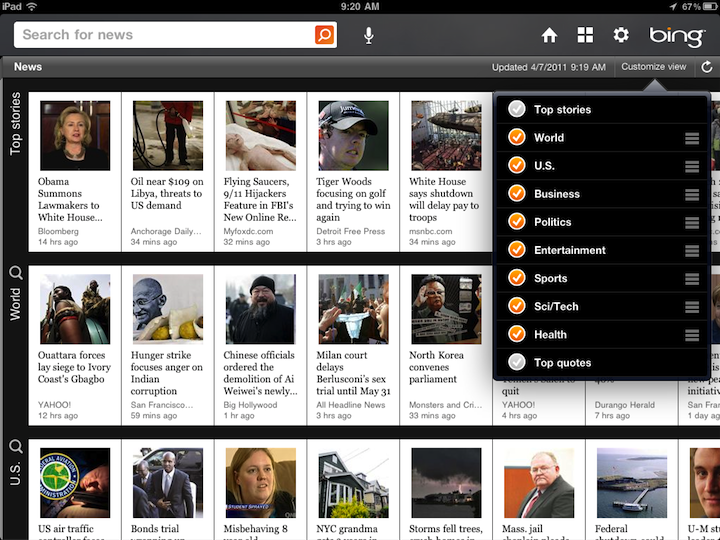 Bing For iPad Arrives - Win For Microsoft