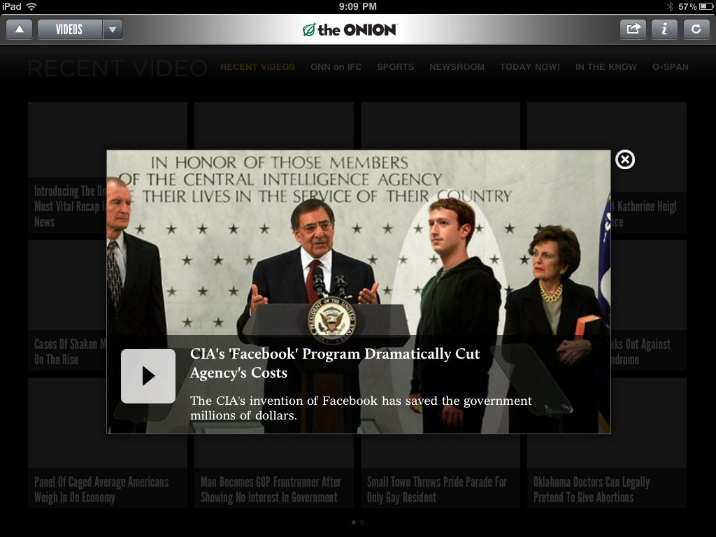 The Onion Lands On The iPad - For Real
