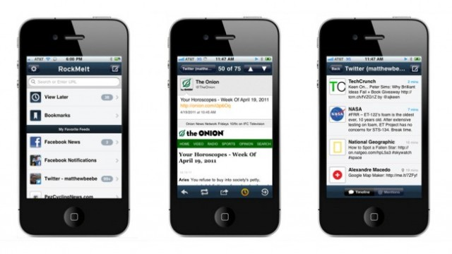 RockMelt Combines Social Networking And Web Browsing On The iPhone