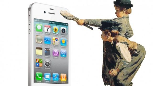 White iPhone 4 No Tom Sawyer Story