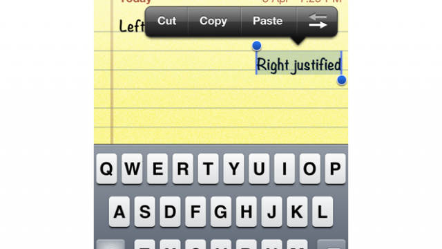 Quick Tip: Justify Text To The Right On Your iDevice
