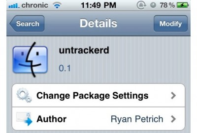 Jailbreak Only: Untrackered - Stop iOS Recording Your Every Move