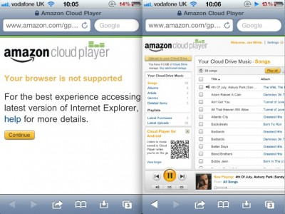 Amazon Cloud Player Now Compatible With iOS