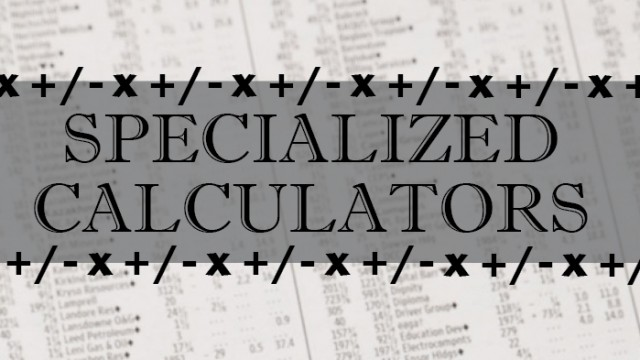 New AppList: Specialized Calculators