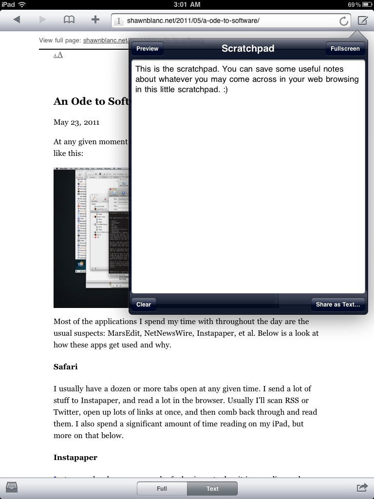Cyberspace - An iOS Web Browser For Those Who Like Reading