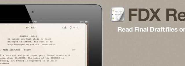 FDX Reader: An iPad App That Can Read Final Draft Files