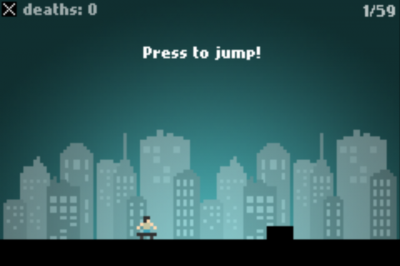 Become A Pool Of Red Pixels In Pixel City Skater