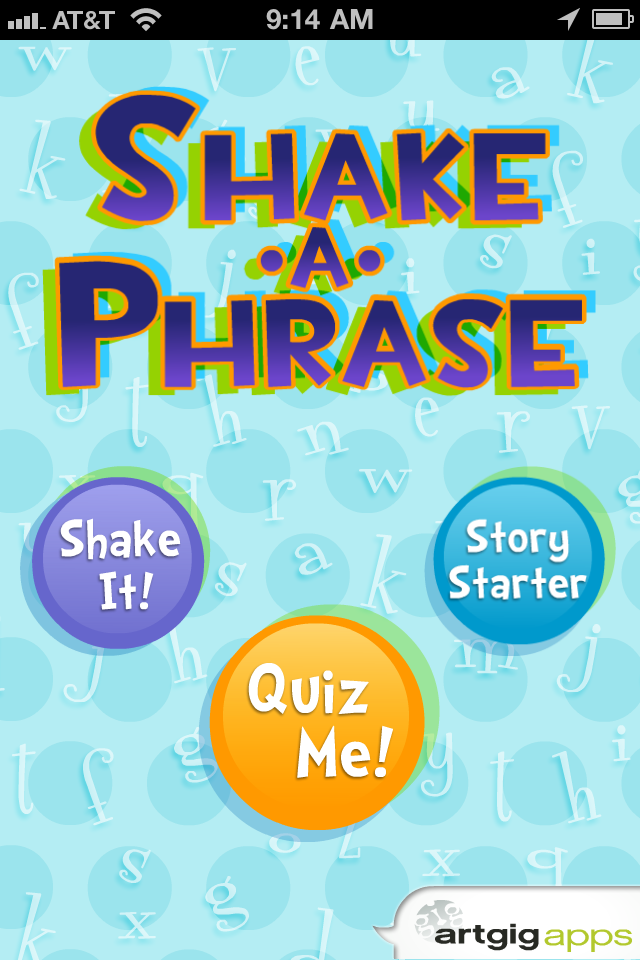 Shake-a-Phrase Generates Random Phrases To Spark Creativity