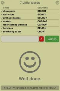 7 Little Words by Blue Ox Technologies Ltd. screenshot