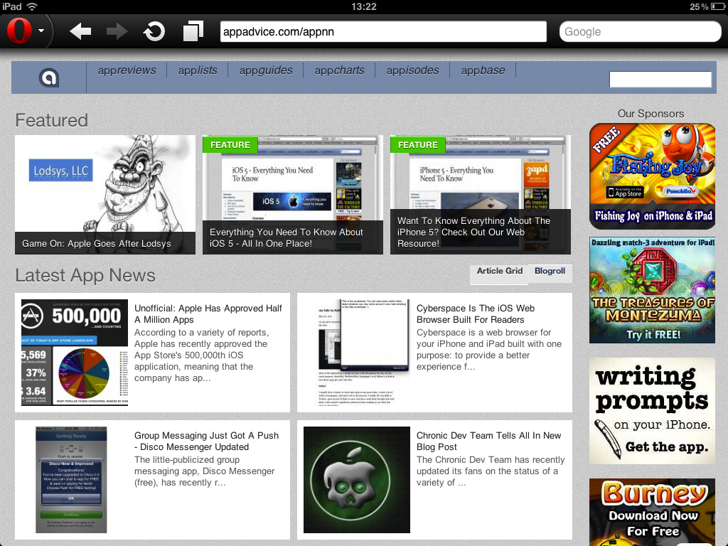 Opera Mini Web Browser Updated: Now A Universal iOS App, With Native Support For The iPad