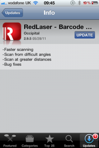 RedLaser Updated - Greatly Improves Scanning Capabilities