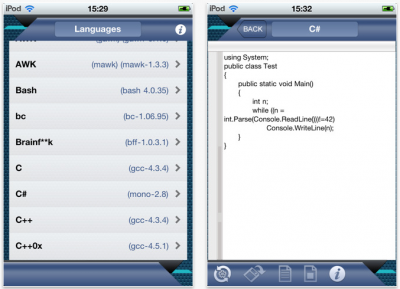iEditor - All In One: Run Code On Your iOS Device In More Than 50 Programming Languages!