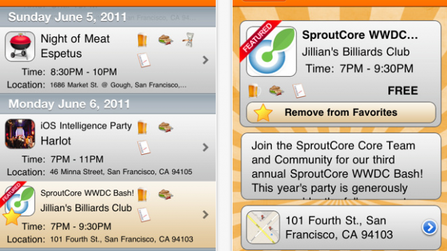 WWDC Party List App Updated To 1.1.0