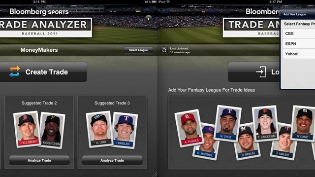Trade Analyzer 2011: Front Office Baseball for iPad - Start Analyzing Baseball Trades On The Go!