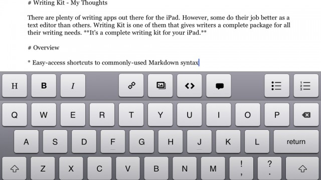 iPad Writers Who Like Markdown And Research? Writing Kit Has You Covered